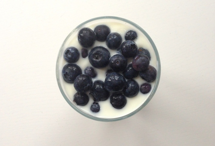 Blueberries, natural yogurt and muesli make for a healthy and delicious breakfast